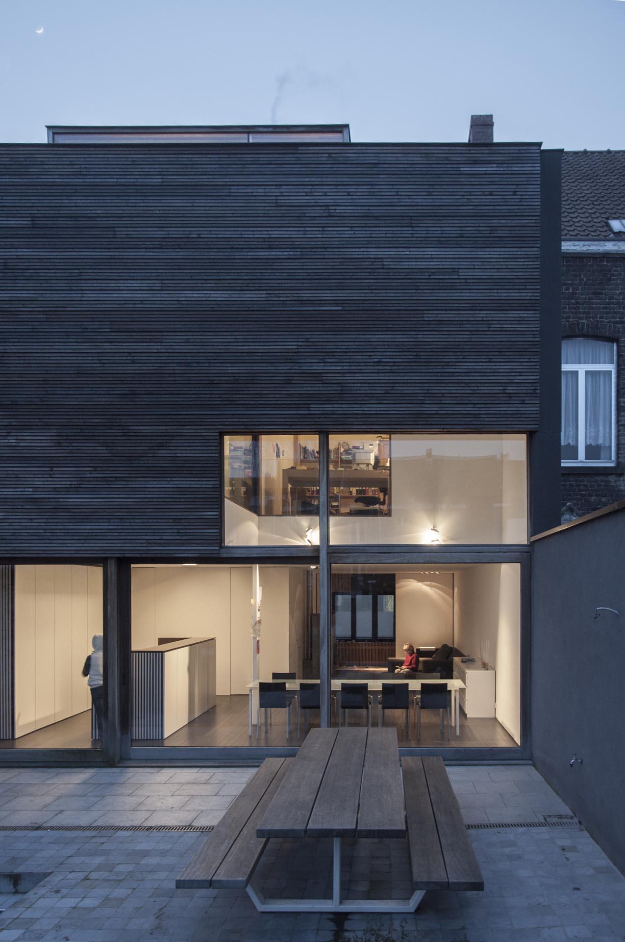 Woning t a gent bruno vanbesien architects - Uitbreiding huis glas ...
